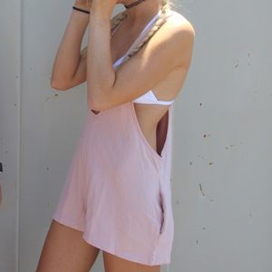 Urban Outfitters pink romper